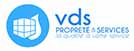 Logo VDS propreté travaux, nettoyage, espaces verts